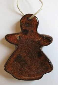 GINGERBREAD GIRL Ceramic Ornament  Inner Art by InnerArtPeace, $4.00