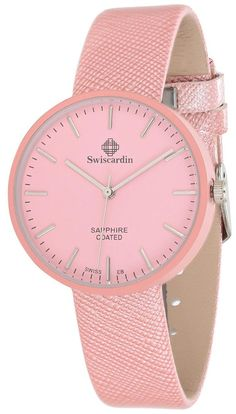 Swiscardin Unisex Pink Dial Leather Band Watch - 11482Mw-G price, review and buy in UAE, Dubai, Abu Dhabi | Souq.com