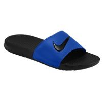 Nike Benassi Swoosh Slide - Men's - Blue / Black