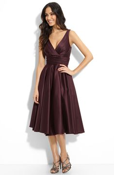 dark eggplant by monique lhuillier - cute shape for bridesmaids' dresses