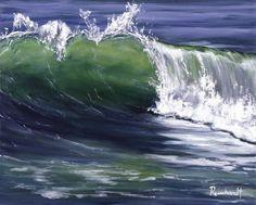 watercolor wave prints for sale   Wave 8 Painting - Wave 8 Fine Art Print