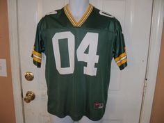 NFL Green Bay Packers 04 FAVRE Jersey SIGNED BY BRUCE WILKERSON #64 SIZE L EUC #Nike #GreenBayPackers