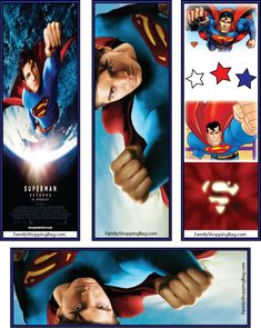 Superman Bookmark Printables. Can't wait for the new movie to come out!!