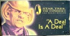 Lg Rare Official Star Trek Las Vegas Experience Sign (04/12/2008)
