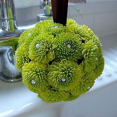 Make a Flower Pomander With Artificial Flowers