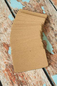 500pc Recycled Plain KRAFT Eco Series Business by LemonCatShop