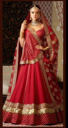Red Colour Taffeta Silk Fabric Party Wear Lehenga Choli Comes With Matching Blouse. This Lehenga Choli Is Crafted With Embroidery. This Lehenga Choli Comes With Unstitched Blouse Which Can Be Stitched. Designer Bridal Lehenga, Indian Bridal Lehenga, Indian Bridal Outfits, Indian Bridal Fashion, Indian Bridal Wear, Indian Designer Outfits, Indian Dresses, Lehenga Wedding Bridal, Wedding Chaniya Choli
