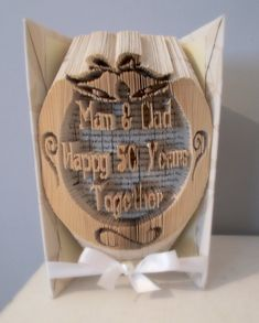 Happy 50 years together combi book fold // by BookArtCreations89