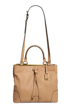 Frye 'Fay' Framed Leather Drawstring Handbag