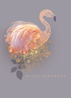 Beautiful new range of designs by the talented Lara Skinner including this delicate #flamingo along with a few more you can see in her online portfolio #falmingo #greetingcard #illustration #layers #delicate #sequins