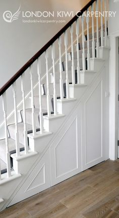 Under stair storage by London Kiwi Carpentry #understairs #storage #interiors #stairs #wardrobes #shoestorage