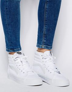 vans high top all white
