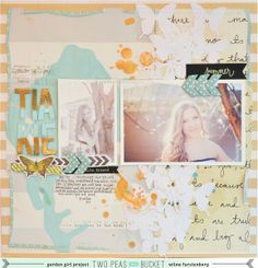In the mood to scrap: Tiakie by Wilna by Wilna @2peasinabucket. paint spill, butterfly , mod podge, chipboard