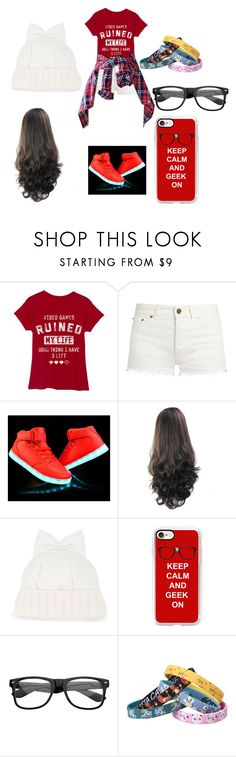 """stylish geek"" by yoitsdd on Polyvore featuring Yves Saint Laurent, Federica Moretti, Casetify, ZeroUV and Nintendo"