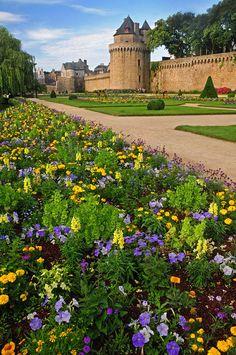 Flowerbeds Of Vannes . France.