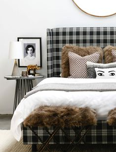 We love the versatility of this plaid bed. Whether your style is feminine, modern, minimal, or organic - you can dress this bed up or down to fit your look. Cheap Home Decor, Bed, Furniture, Bed Styling, Home Remodeling, Cheap Living Room Decor, Bedroom Decor, Home Decor, House Interior