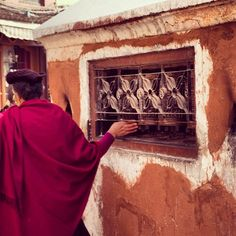 Prayer wheels in motion. #himalayanjourney #nepal #wanderlust #buddhist