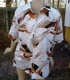 Cool 80s Tori Richard Hawaiian Shirt in White by gottagovintage1, $35.00