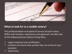 Mobile notarys network specialize providing mobile notary public doc signing services. Visit us at -www.mobilenotarysnetwork.net/ ‪#‎NotaryOrangeCounty‬ ‪#‎travelnotary‬