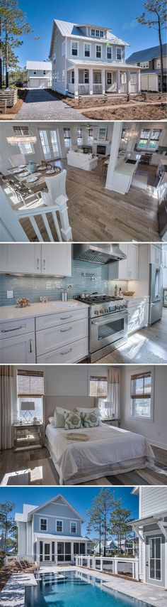 Incredible beach house READY NOW in Santa Rosa Beach's Watercolor community. My dream home! Style At Home, Dream Beach Houses, Coastal Homes, Beach Homes, House Goals, Beach Cottages, Beach House Decor, Cottage Style, Cottage Art