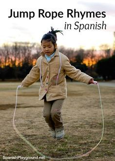 Spanish jump rope rhymes teach kids language and culture as they play. Movement, rhythm, and fun make jump rope rhymes great learning! Free printable.