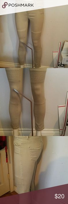 ❣ low rise stretch pants ❣ ❣ tan low rise stretch pants. Like new, only used once. Price is negotiable ❣ Pants