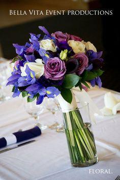 calla lily and iris wedding | Purple-Indigo-Lavender-Ivory-Iris-Rose-Calla Lily-Bridal Bouquet-Bella ...