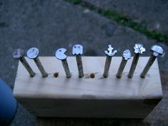 Leather Tooling Punches - A simple method for making your own leather tooling punches.