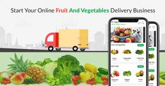 Goteso is on demand fruit and vegetable delivery business apps development company briefing the way how you can start online fruits and vegetables delivery with business software app? Online Fruits And Vegetables, Fruits Online, Fruit Delivery, Grocery Delivery Service, Business Software, Business Tips, Vegetable Delivery, Pomegranate Recipes, Android Codes