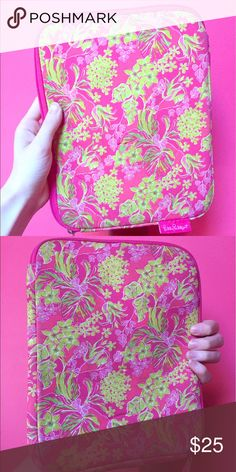 Retired Print! Lily Pulitzer Tablet Case This 10 inch by 8 inch neoprene Lilly Pulitzer case is perfect for keeping tablets protected, yet stylish!  This Print is retired.  All of my items come from a smoke free home.  This sale benefits my friend's mission trip to help the poor in Dominican Republic. Thank you for your help! :) Lilly Pulitzer Other