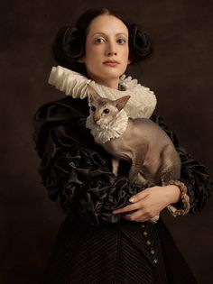 Rembrandt-Inspired Portraits of Women With Unusual Animals