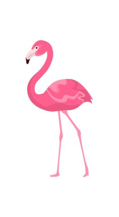 Pink Flamingo Wallpaper, Flowery Wallpaper, Tropical Wallpaper, Pink Wallpaper Iphone, Animal Wallpaper, Pink Flamingos, Art And Illustration, Flamingo Illustration, Illustration Animals