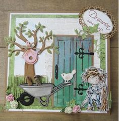 Marianne Design Dies May 14 Releases 3d Cards, Cute Cards, Stampin Up Cards, Rena, Paper Craft Making, Homemade Birthday Cards, Stampinup, Marianne Design, Garden Theme