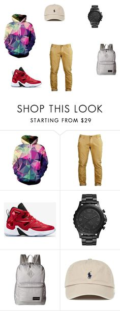"""""""Untitled #41"""" by shiyanemcnab on Polyvore featuring NIKE, FOSSIL, JanSport, men's fashion and menswear"""