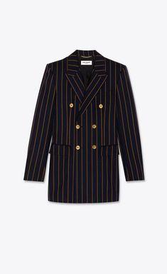 Black Wool Coat, Tweed Coat, Tweed Jacket, Looks Chic, Looks Style, Saint Laurent, Dandy, Ysl, Chesterfield Coat