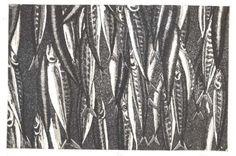 Market  Original etching aquatint by chartwellprint on Etsy (Art & Collectibles, Prints, Etchings & Engravings, original, print, etching, fish, printmaking, intaglio, aquatint, printsy, Mackeral, Fish Market)