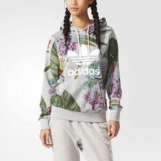 adidas - Sweat-shirt à capuche logo Trèfle