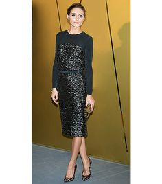@Who What Wear - Olivia Palermo                 Tip: Sequin Separates + Animal Print Heels  On Palermo: Whistles Naomi Sequin Top ($322); Whistles Naomi Sequin Skirt ($322); Stuart Weitzman Pipenouveau Calf Hair Pumps ($440)  Get The Look: Aldo Madueno Leopard Pointed Heeled Court Shoes ($131)
