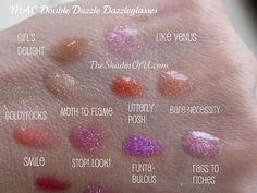 The Shades Of U: MAC Double Dazzle Dazzleglass Swatches and Initial Review