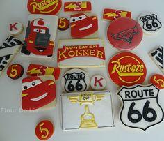 Cars Themed Birthday Cookies