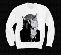 Eminem Sweatshirt Sweater Shirt T-shirt Pop Culture Devil Horns on Etsy, $24.00 im getting this