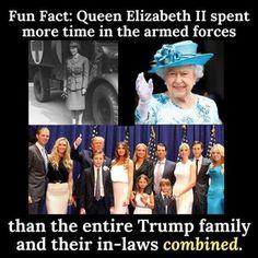 Queen Elizabeth vs Donald Trump and his entire family. : MarchAgainstTrump