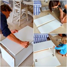 The Bears Four: DIY Ikea Hack Bench Seat Dining Room Bench Seating, Storage Bench Seating, Kitchen Benches, Bench With Storage, Diy Kitchen, Kitchen Banquette, Seating Plans, Wall Seating, Kitchen Reno