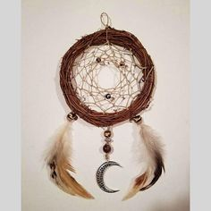 An ancient Chippewa tradition the dream net has been made for many generations.