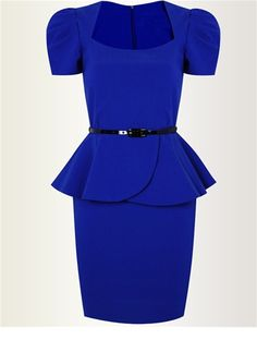 Mia Royal Blue £45.00  A stunning fitted dress with a stretch bengaline material, perfect for wearing in the office. http://www.lipstickboutique.co.uk/