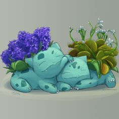 butt-berry: All these Bulbasaur, plus more that couldn't be fit into this post, can be found on my Redbubble store! They are so fun to do that I will probably keep drawing and adding new ones to the collection forever. Pokemon Bulbasaur, Gif Pokemon, Pokemon Mix, Pokemon Red Blue, Nintendo, All Anime, Anime Manga, Totoro, Bulbasaur Evolution