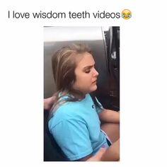 Wisdom Teeth Removal Video, Wisdom Teeth Video, Wisdom Teeth Funny, Funny Laugh, Wtf Funny, Stupid Funny, Funny Jokes, Funny Stuff, Funny Things