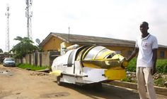 Nigerian man Kehinde Durojaiye invented an aero-amphibious jet car that can travel on land and sea; he one day hopes to make the car fly. Amazing Inventions, Nigerian Men, United Nations, Landing, Jet, Writing, Cool Stuff, Water, Travel