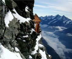 The Solvay Hut is a mountain hut located on the north-eastern ridge of the Matterhorn, near Zermatt in the canton of Valais in Switzerland. At 4,003metres (13,133ft), it is the highest mountain hut owned by the Swiss Alpine Club, but can be used only in case of emergency.