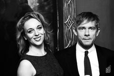 Martin Freeman & Amanda Abbington - The Hobbit: An Unexpected Journey Premiere, New York, 6th December 2012